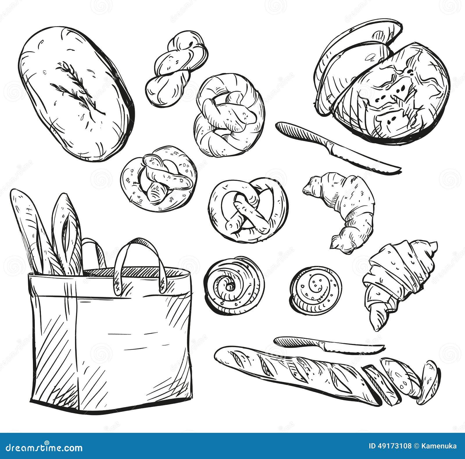 Учимся рисовать Хлеб  purmixru