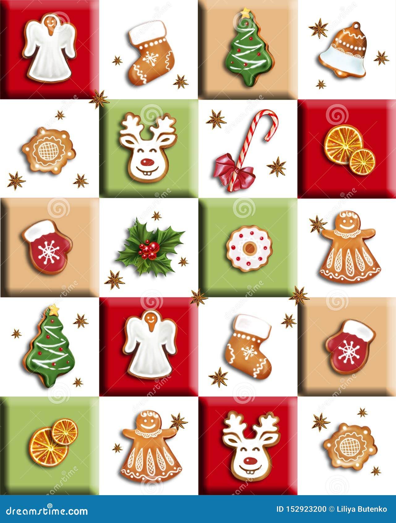 Pain d épice et bonbons de Noël