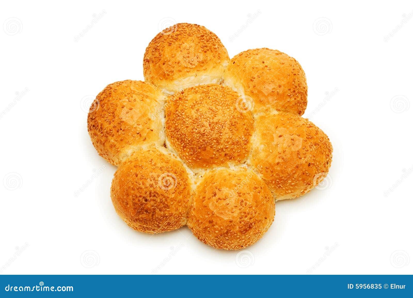 Pain de pain d isolement sur le fond blanc