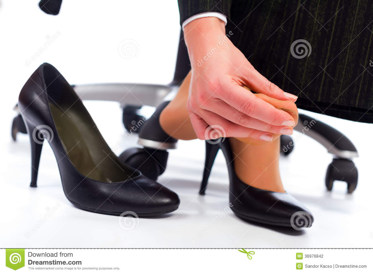 Pain in the Feet stock photo. Image of beautiful ...