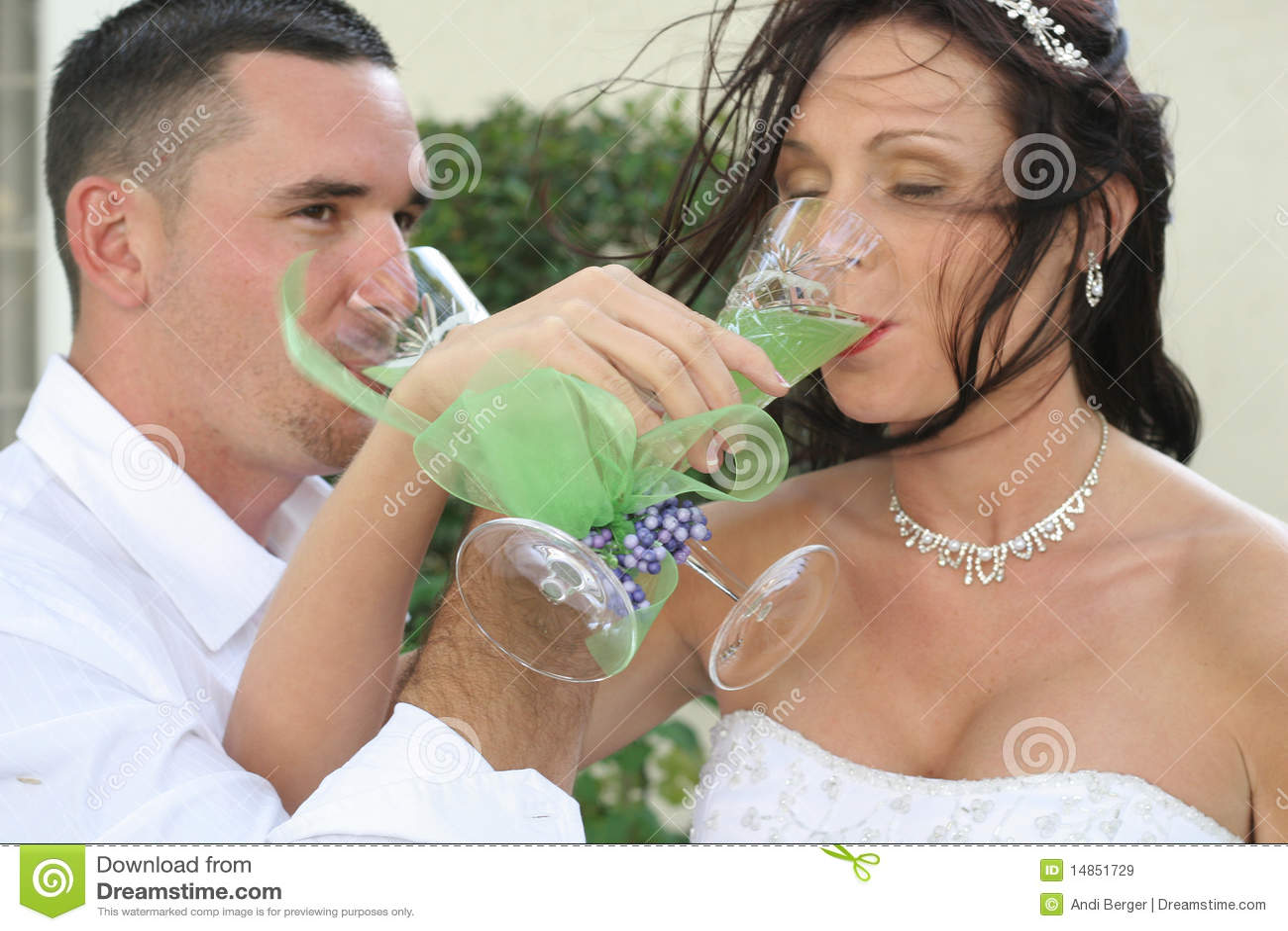 Pain grillé de mariée et de marié