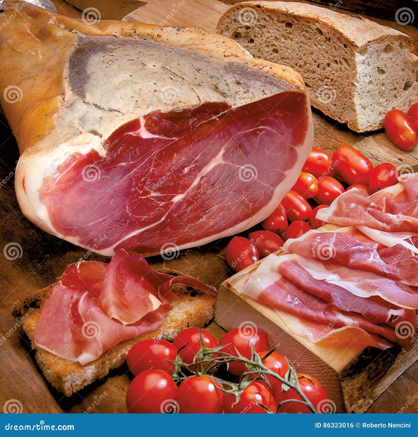 Pain italien de jambon et toscan doux