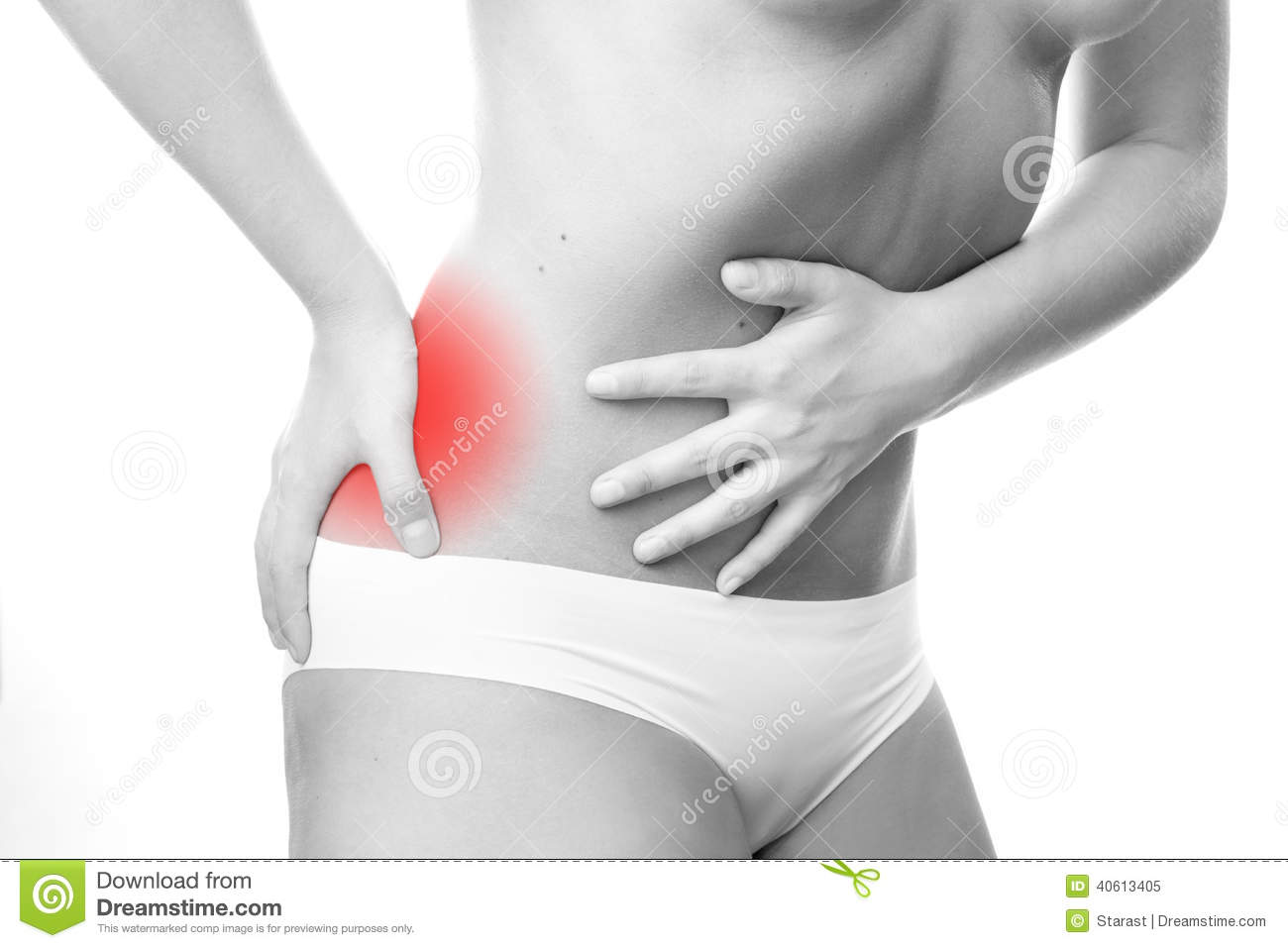 Pain In Right Side Of Body Stock Photo Image 40613405