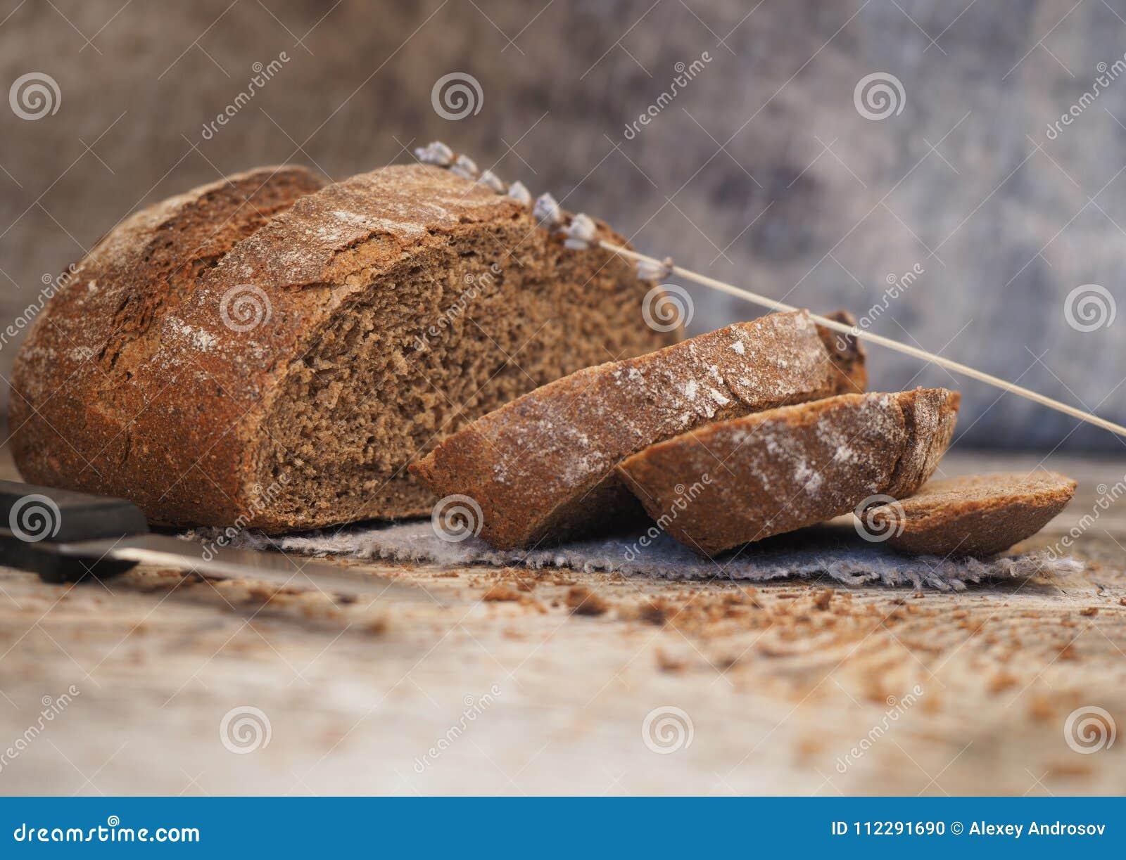 Pain Sans Levain Fait Maison Fait A Partir De La Farine De Seigle Et De Ble Photo Stock Image Du Levain Farine 112291690