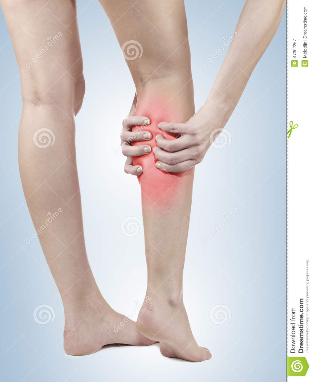 Pain In Woman Hamstring Stock Image Image Of Medicine 47302257
