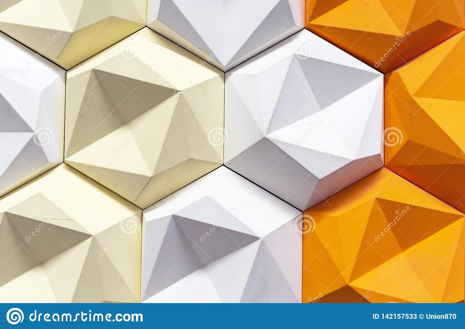 Painel 3D decorativo em um interior moderno fundo 3d geométrico