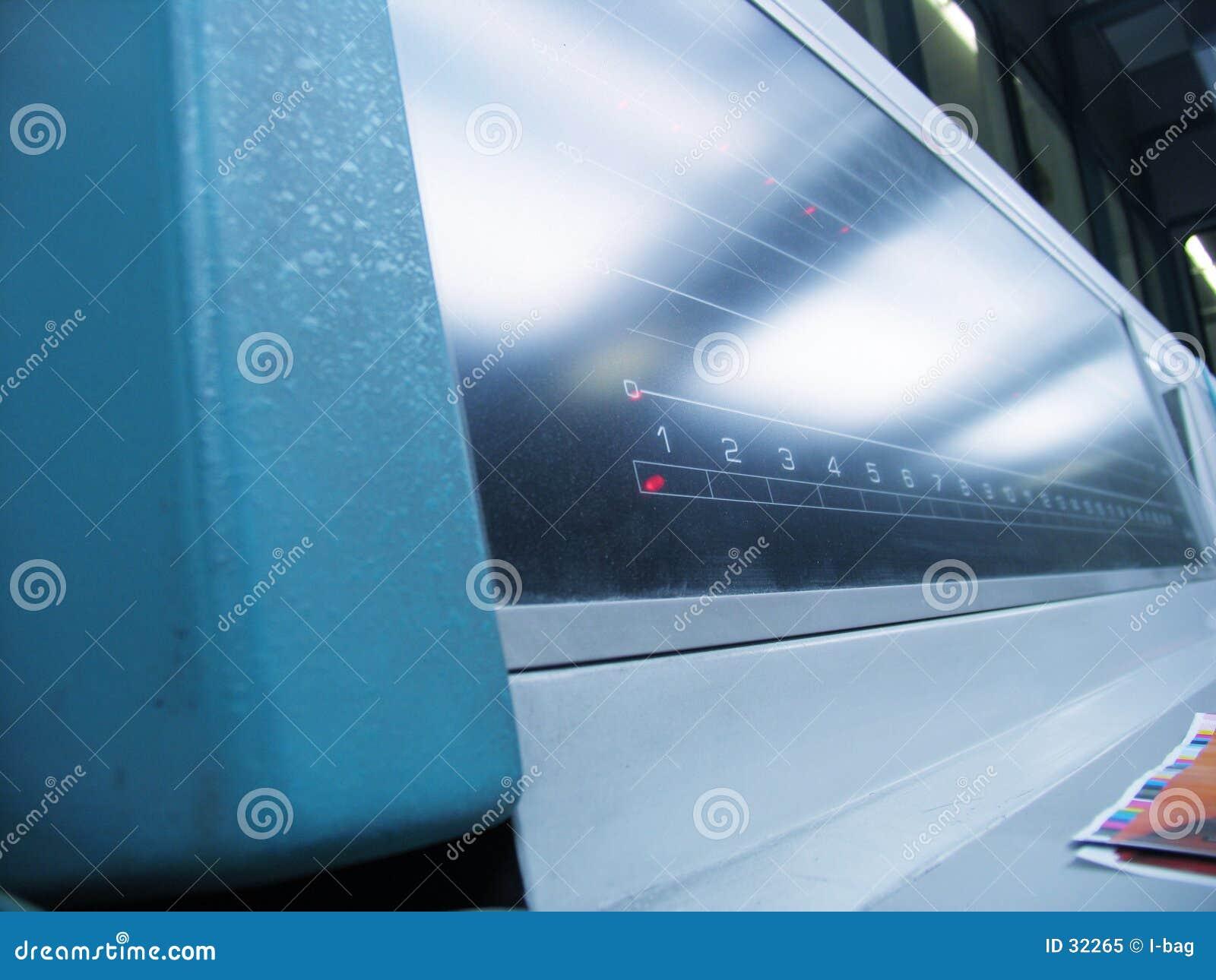 Painel da máquina de impressão