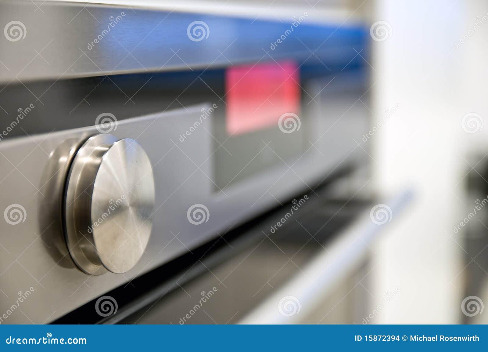 Painel frontal do fogão de cozinha