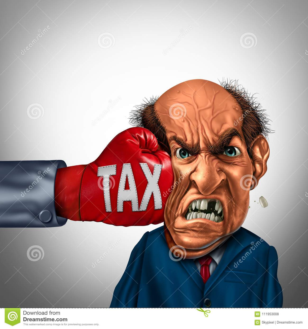 Painful Tax Concept