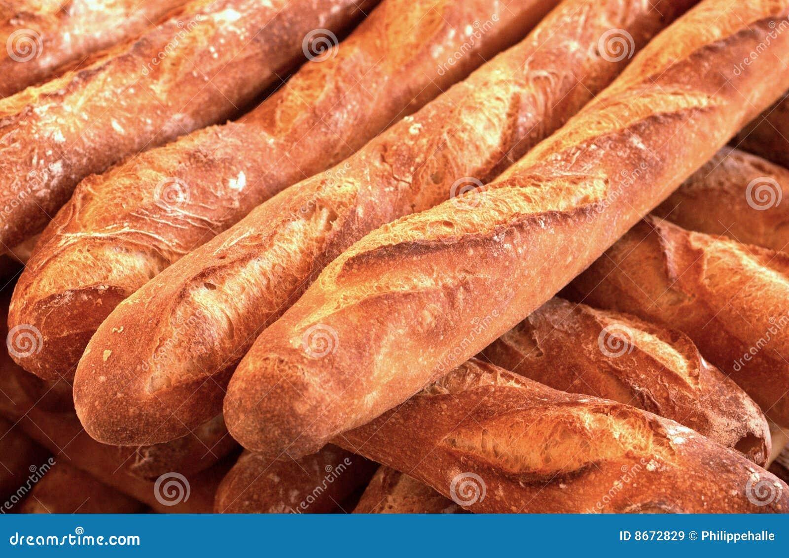 Pains français dans une boulangerie