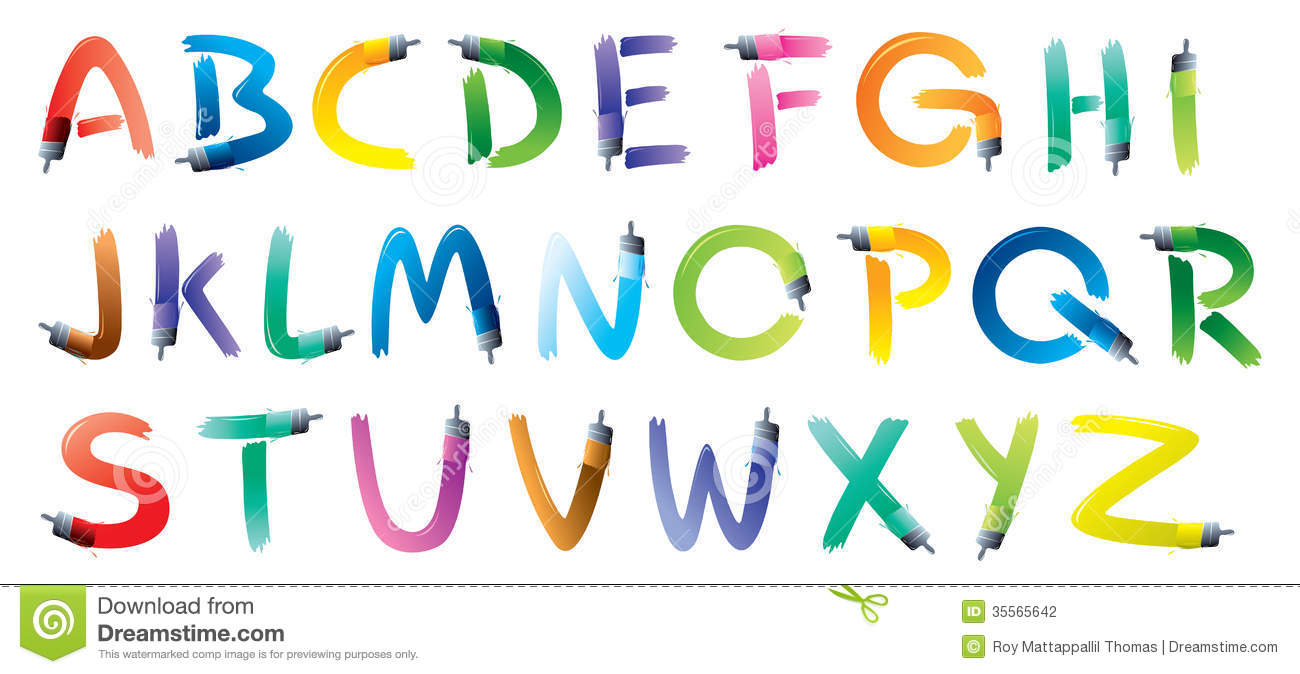 Paint Brush For Painting Letters