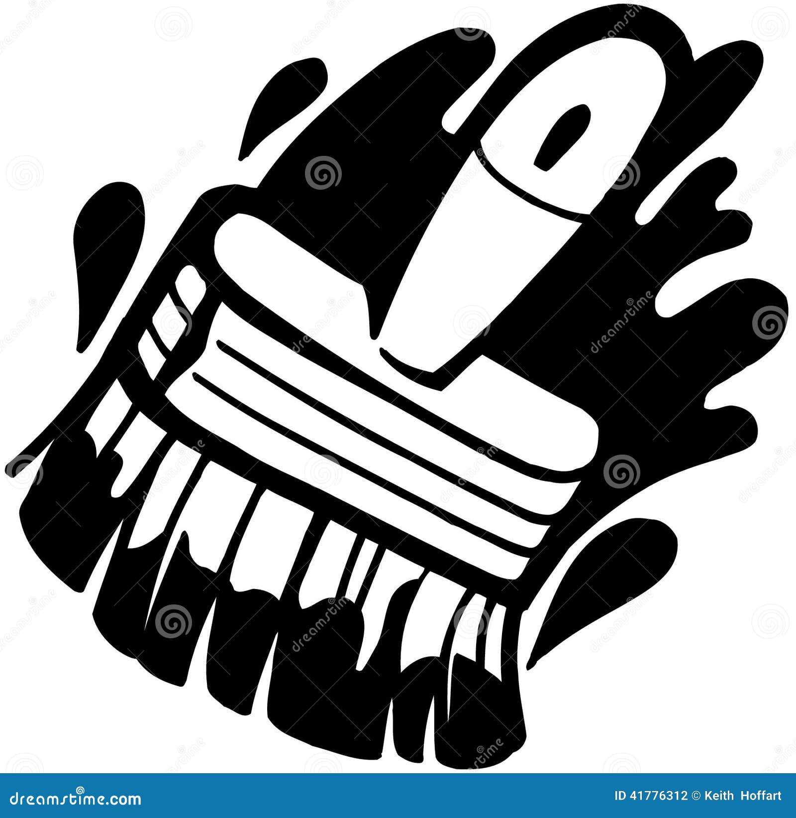 Paint Brush Cartoon Vector Clipart Stock Vector Image