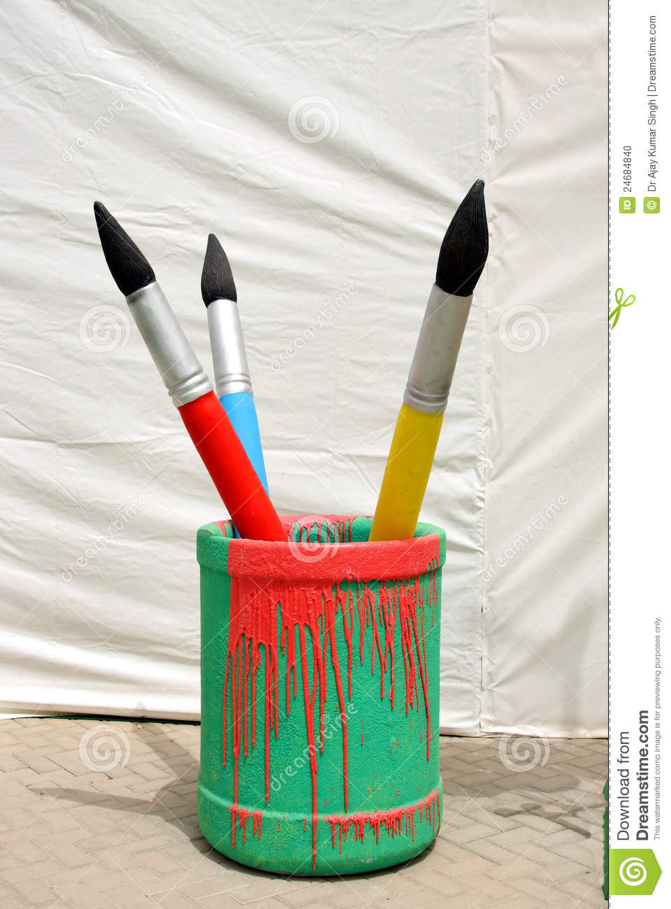 Paint Brush In A Container Stock Photo Image 24684840
