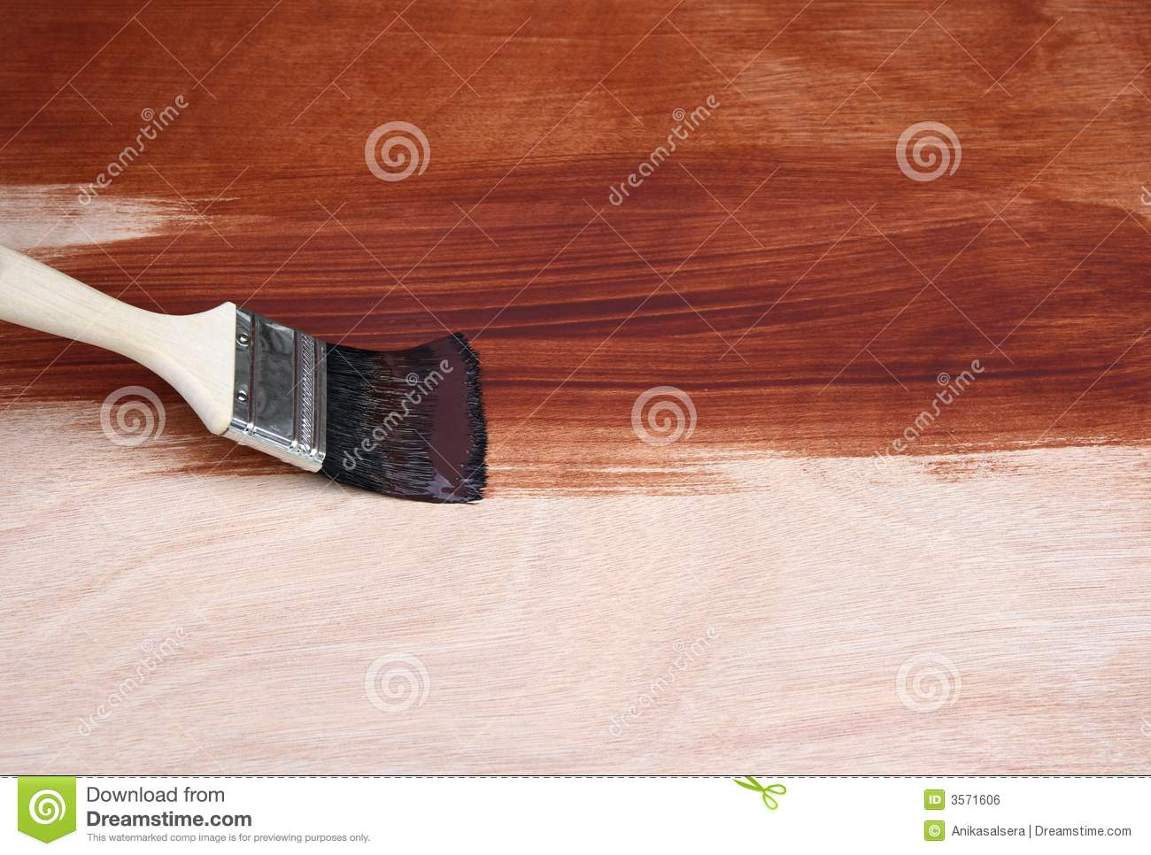 Paint Brush Painting Wood Royalty Free Stock Image Image 3571606