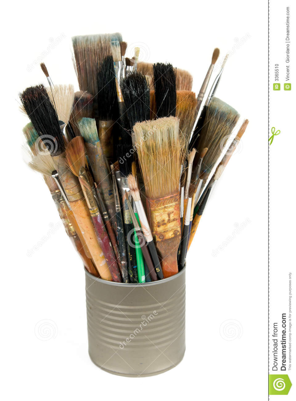 paint brushes in a can stock photo image 3365510. Black Bedroom Furniture Sets. Home Design Ideas