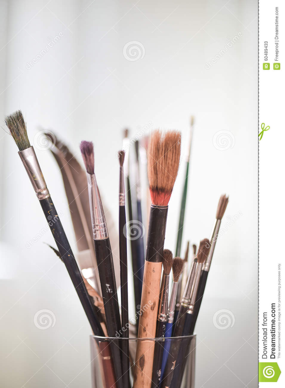 paint brushes in the pot stock illustration image 60489433. Black Bedroom Furniture Sets. Home Design Ideas