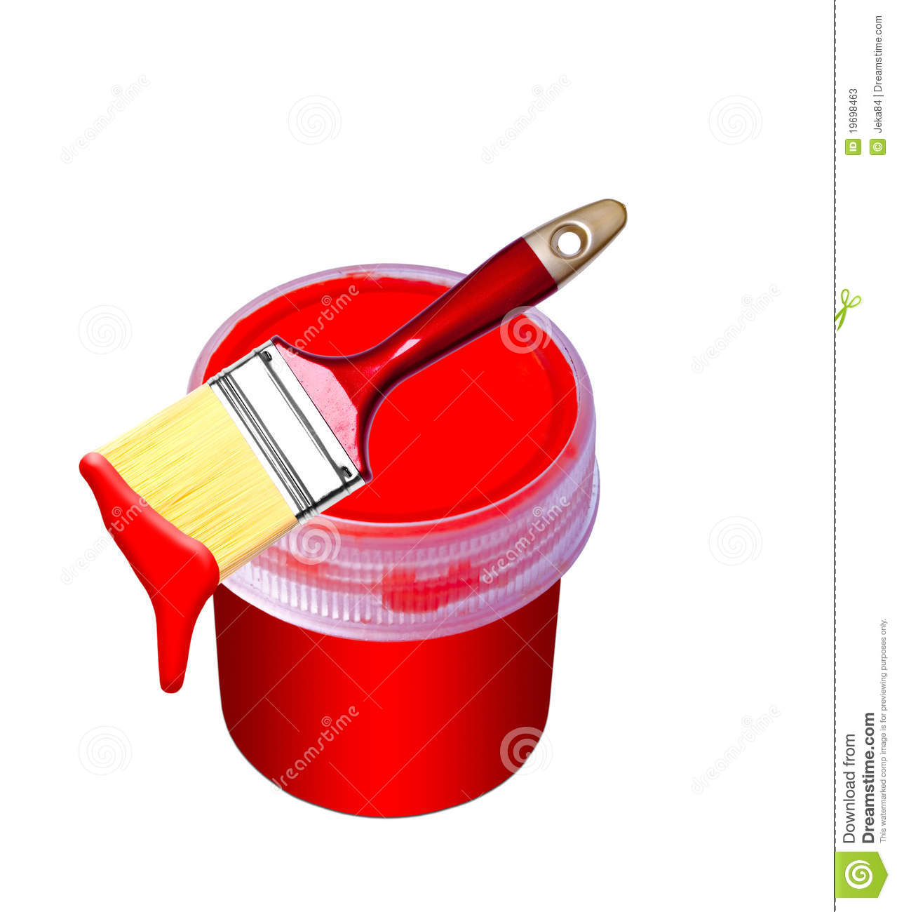 Paint Bucket And Brush Stock Photos - Image: 19698463