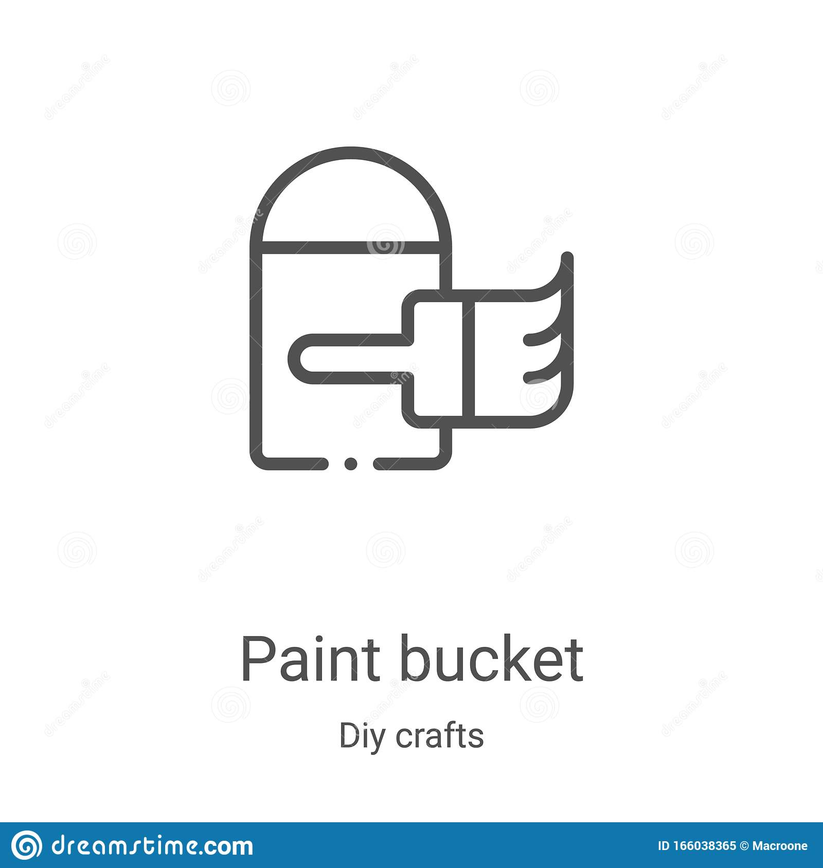 Paint Bucket Icon Vector From Diy Crafts Collection Thin Line Paint Bucket Outline Icon Vector Illustration Linear Symbol For Stock Vector Illustration Of Liquid Equipment 166038365
