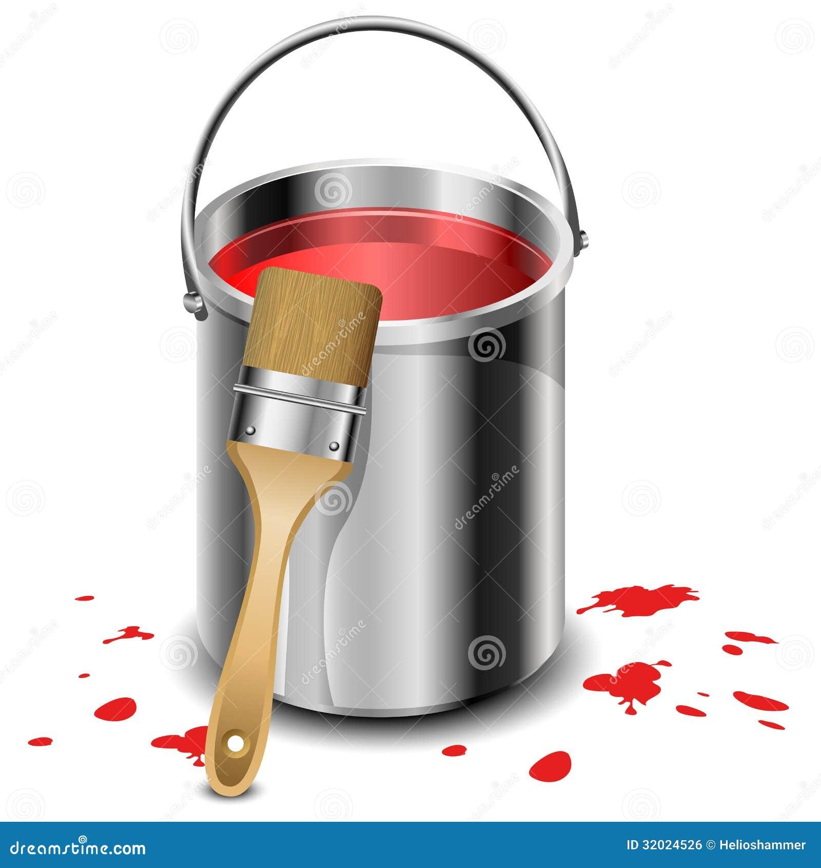 paint bucket and brush - photo #37