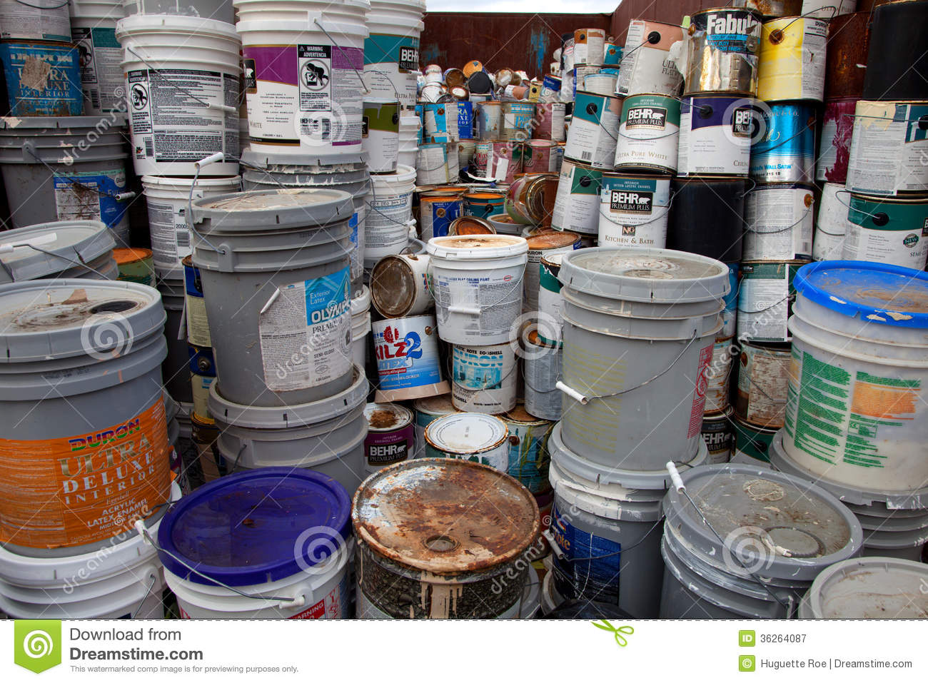 Paint bucket recycling editorial photography. Image of ...