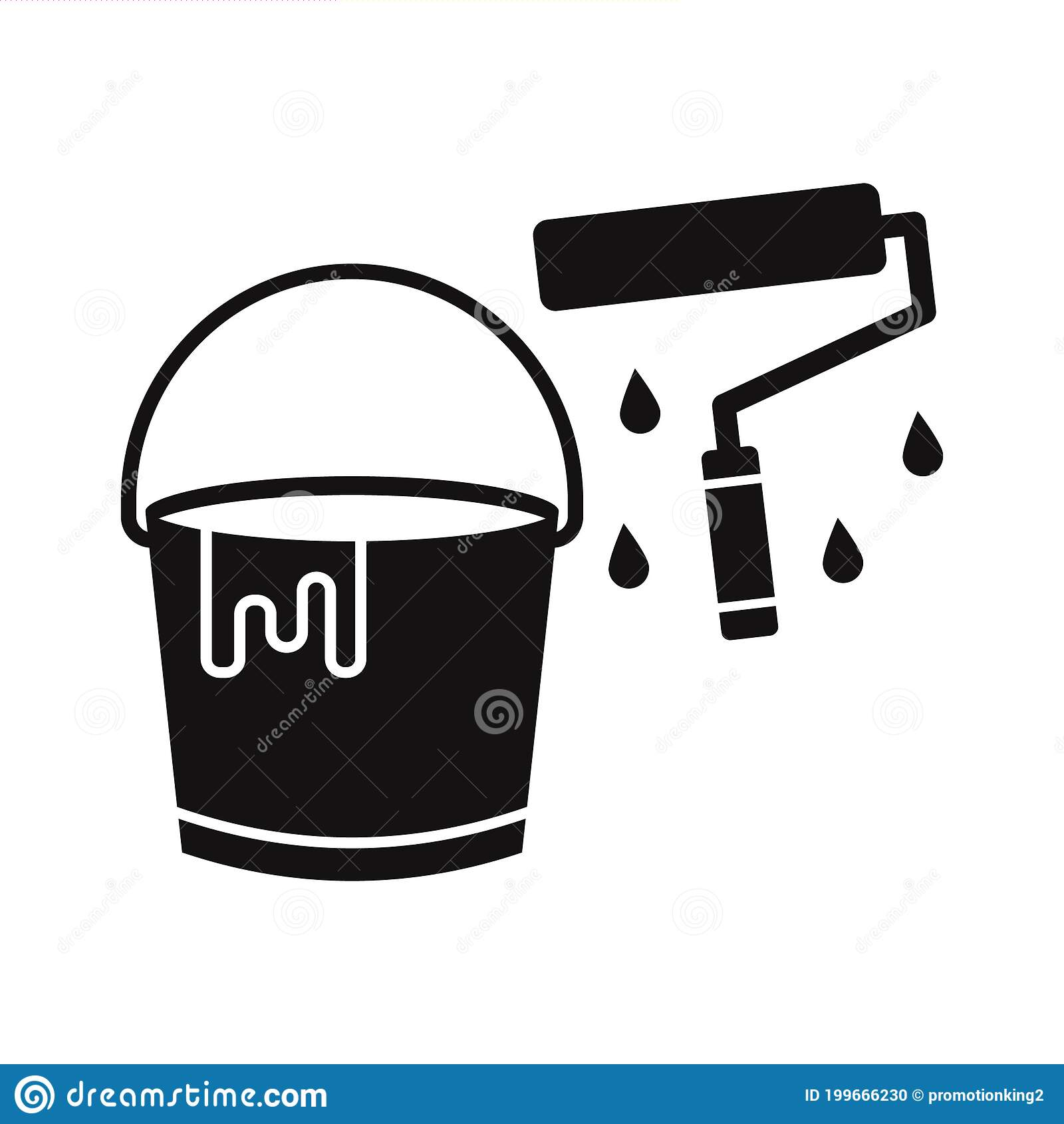 Paint Bucket Vector Icon Which Can Easily Modify Or Edit Stock Vector Illustration Of Bucket Nnnpaint 199666230
