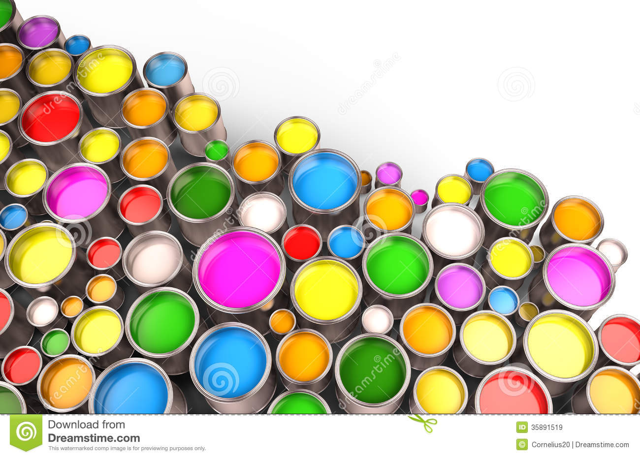 No Background Paint Cans