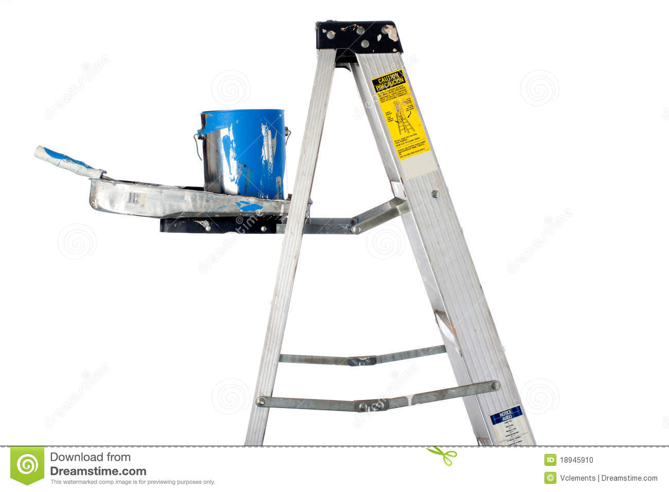 Metal Ladder Paint Tray
