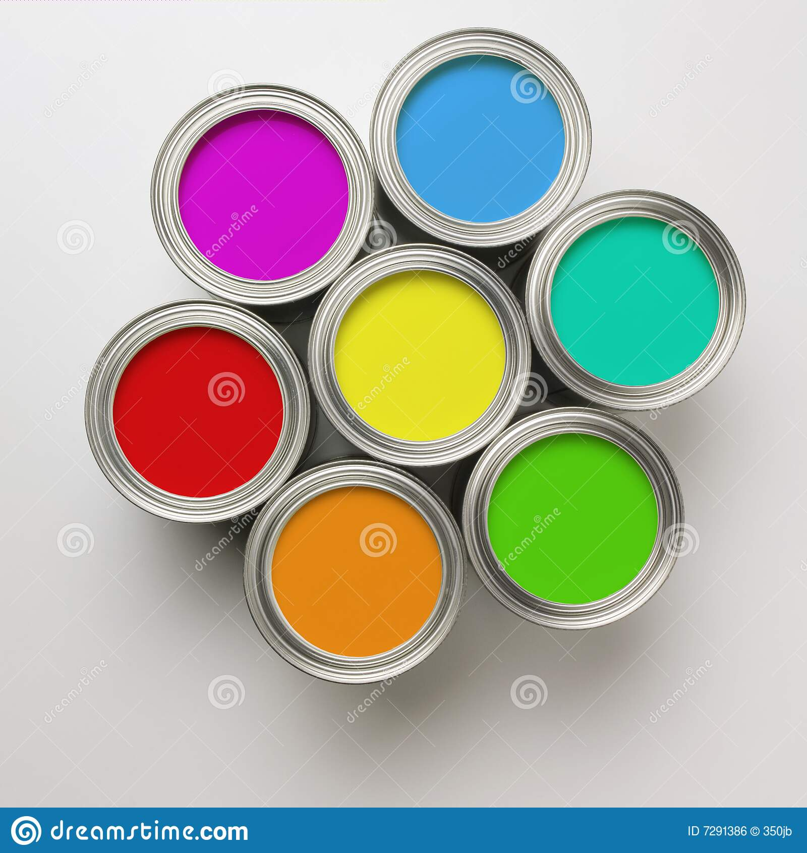 Https Www Dreamstime Com Royalty Free Stock Image Paint Cans Circle Image7291386