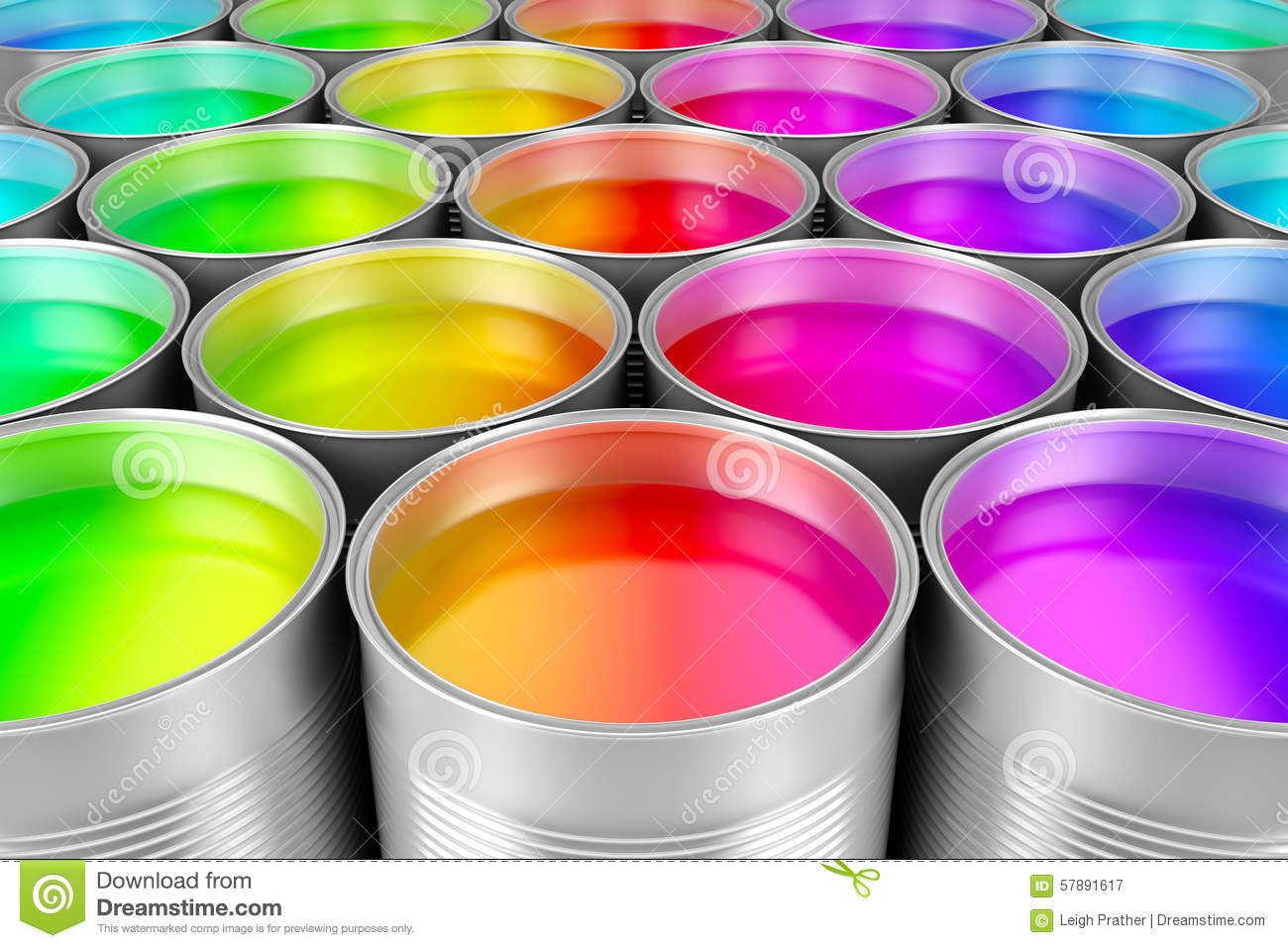 paint cans of colorful paint stock illustration image. Black Bedroom Furniture Sets. Home Design Ideas