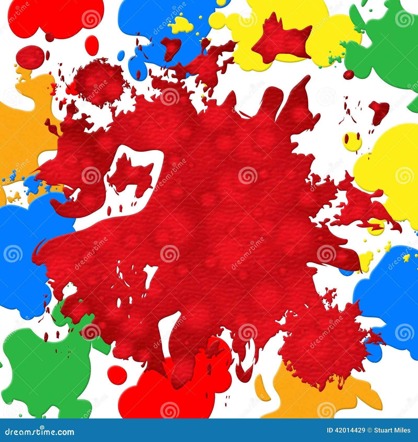 paint color shows backdrop blot and vibrant stock