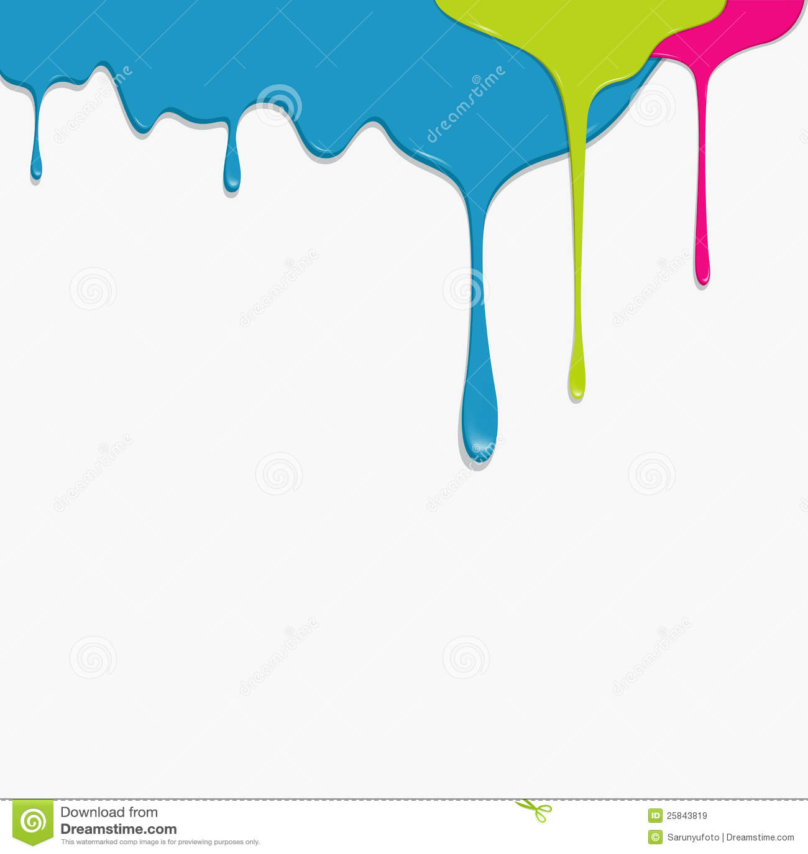 Dripping Blue Paint Cartoon