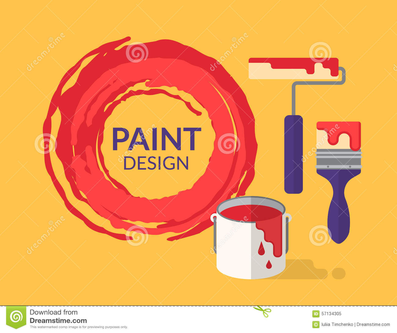Paint Design Stock Vector Image 57134305