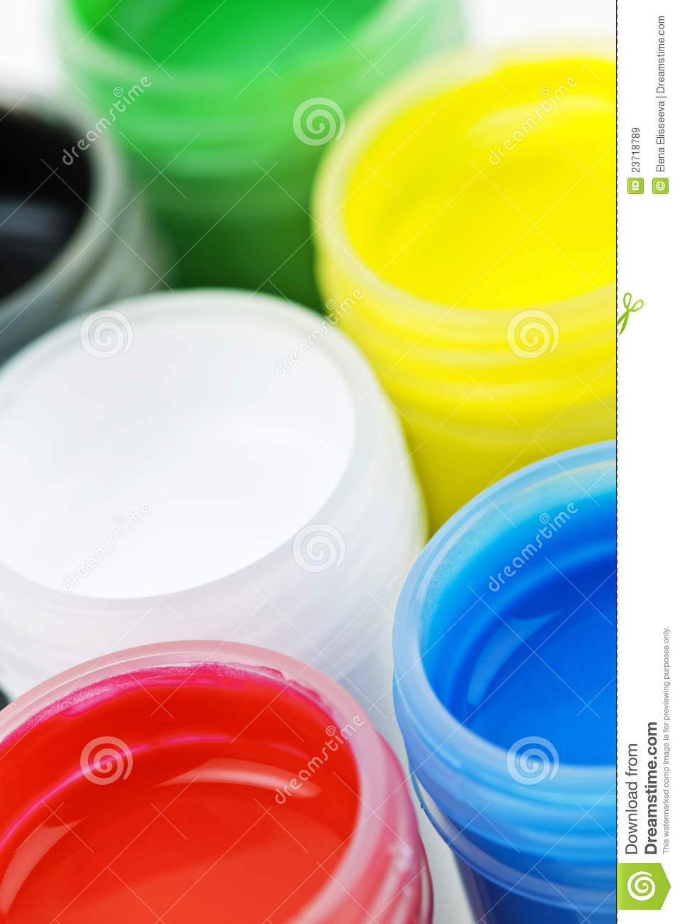 Paint Of Different Colors Royalty Free Stock Images