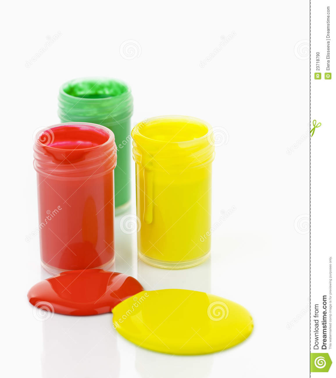 Different Colors Of Paint: Paint Of Different Colors Spilled Stock Photo