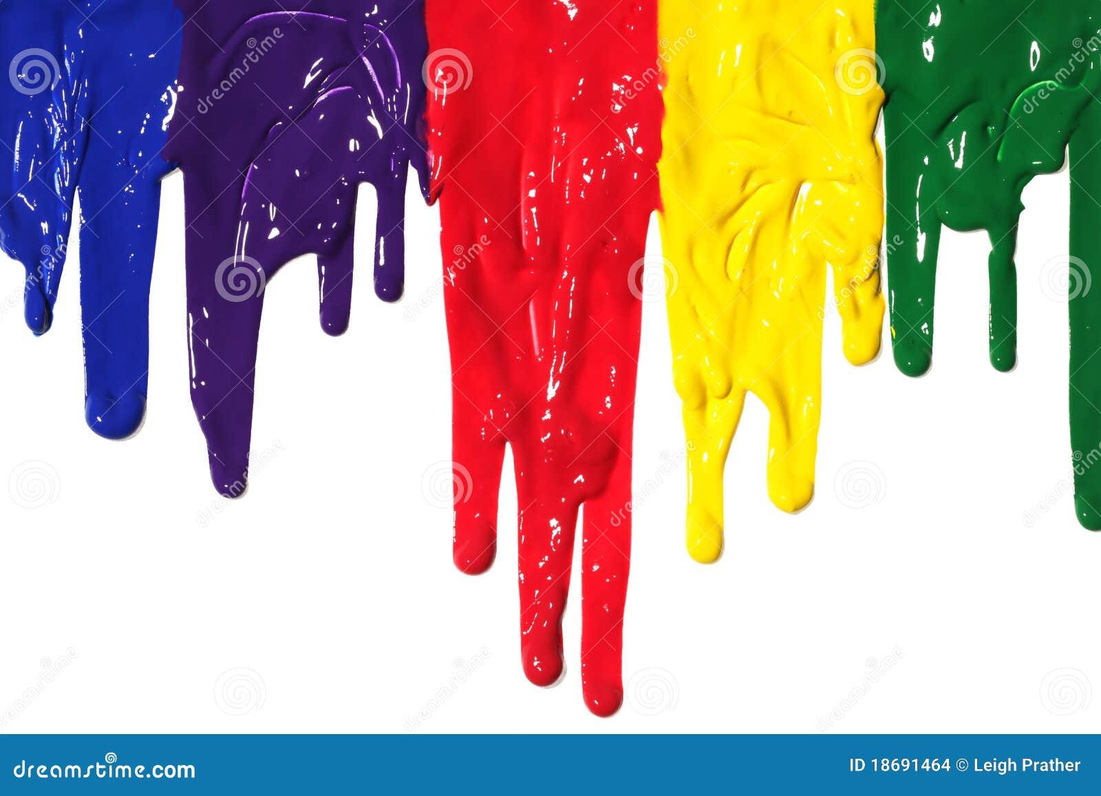 Acrylic Paint Stock Dripping