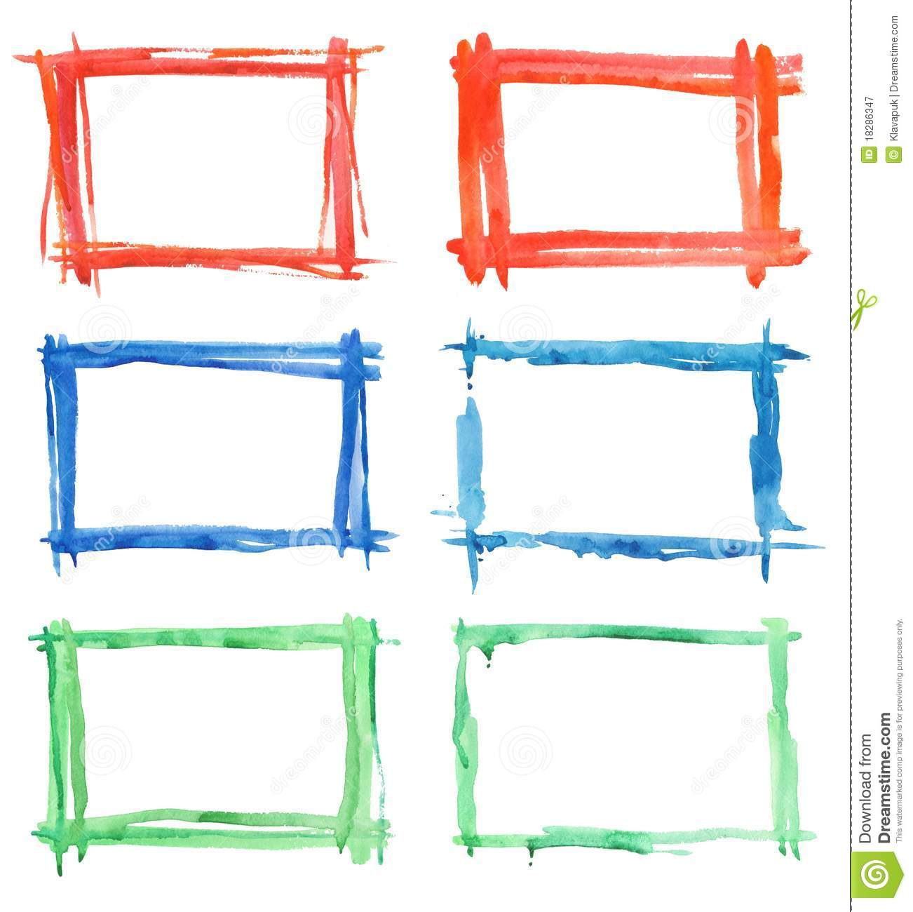 Paint frames stock illustration. Illustration of illustration - 18286347