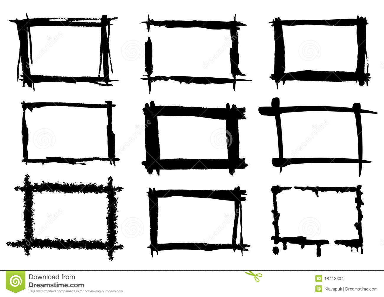 Paint frames stock vector. Illustration of sketch, image - 18413304