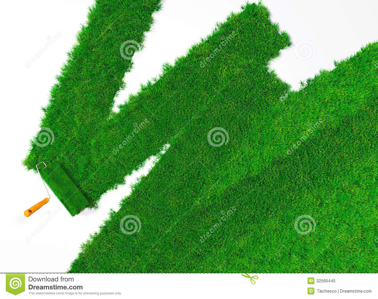 paint the ground with grass royalty free stock photo