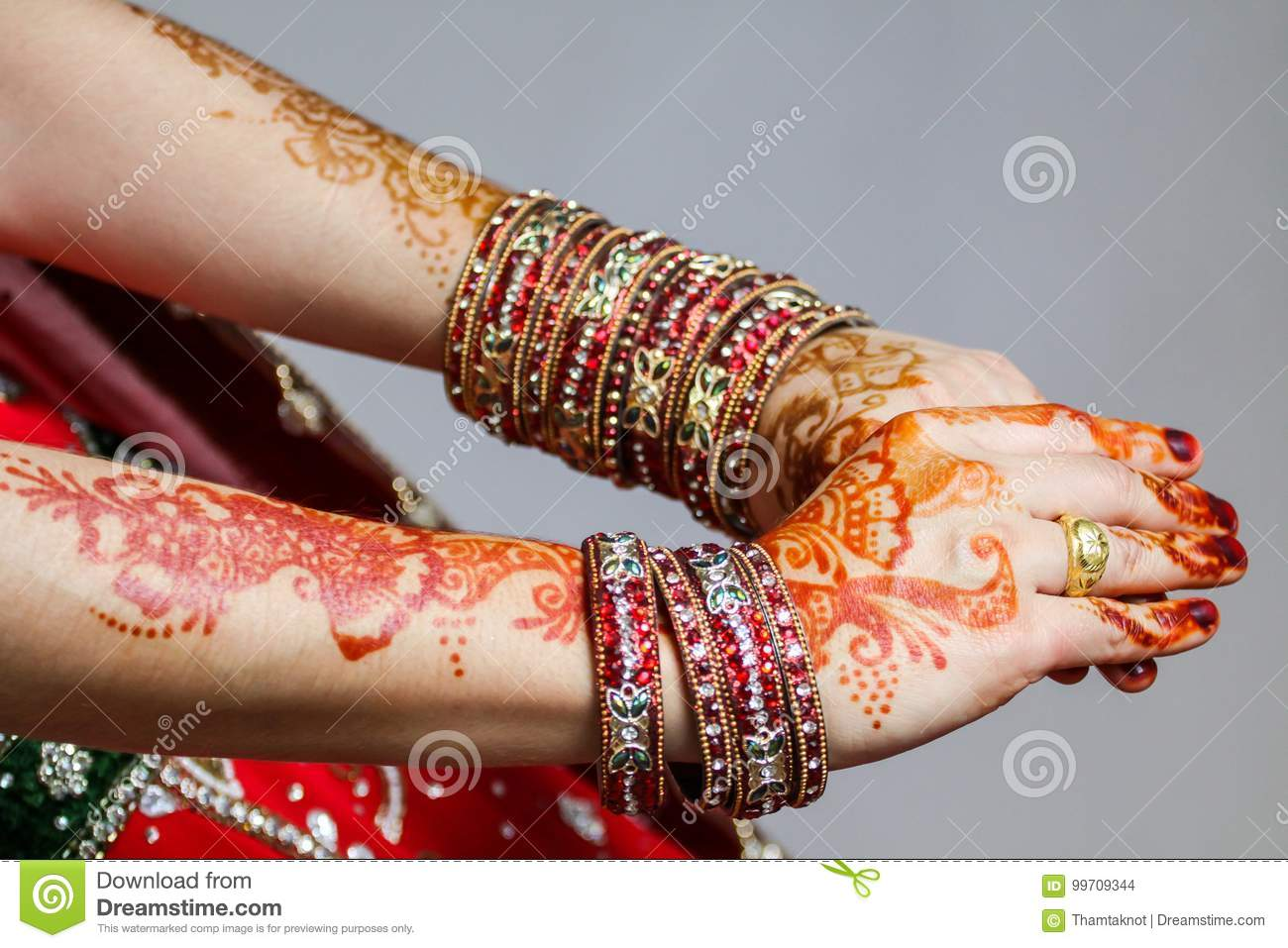 The paint henna on the hands down to your special day in Islam.