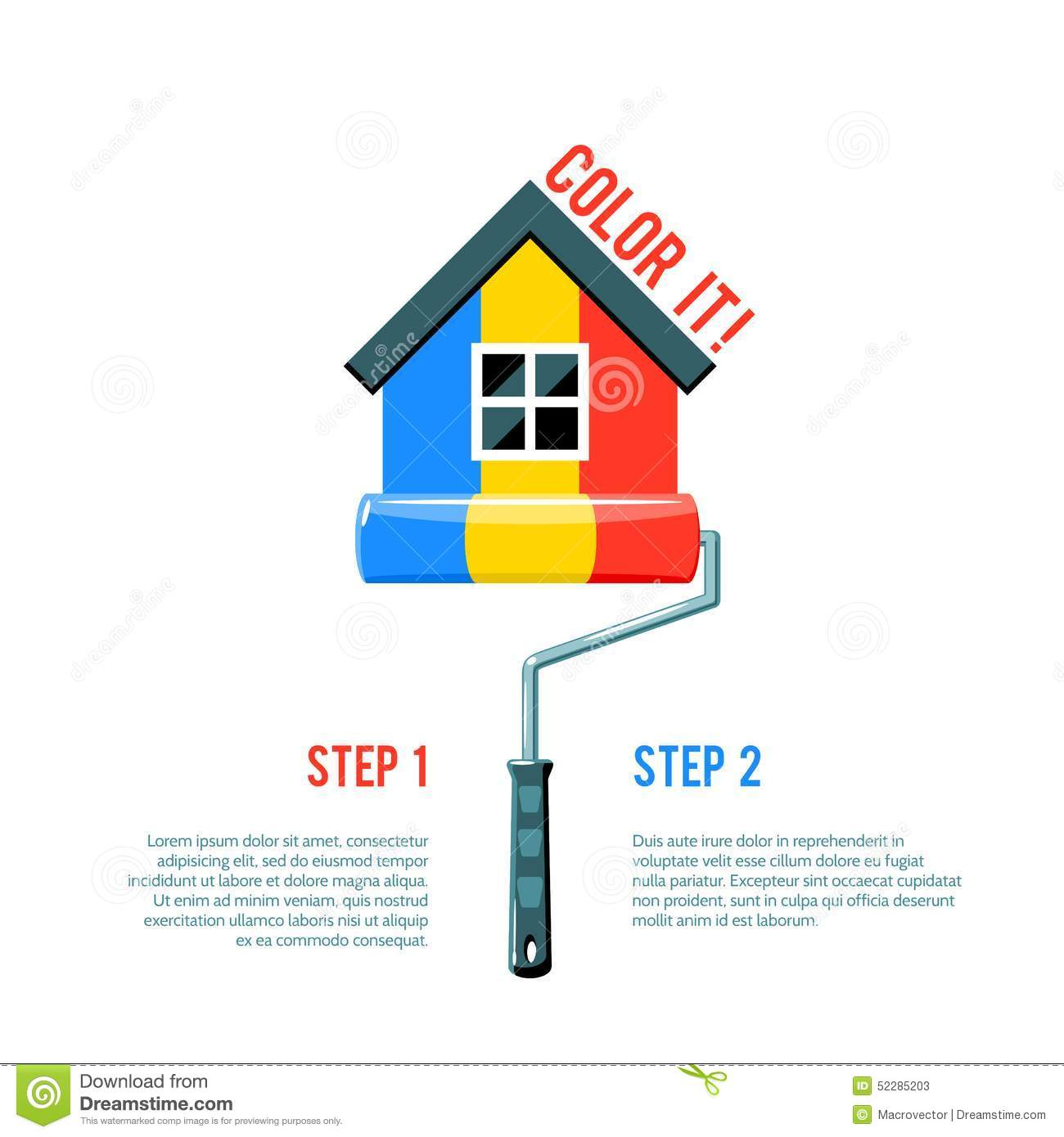 Paint House paint house icon stock vector - image: 52285203
