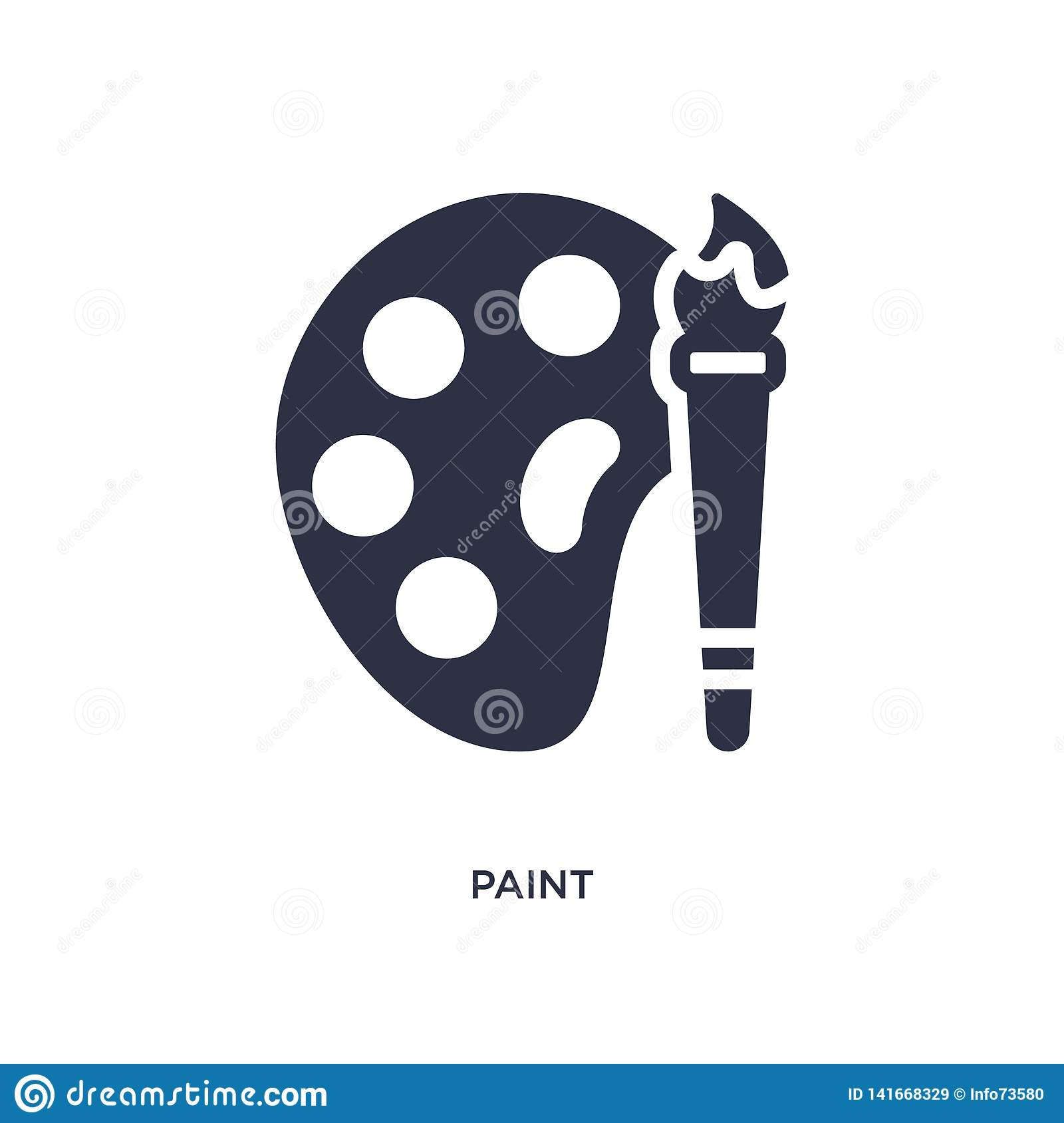paint icon on white background. Simple element illustration from user interface concept