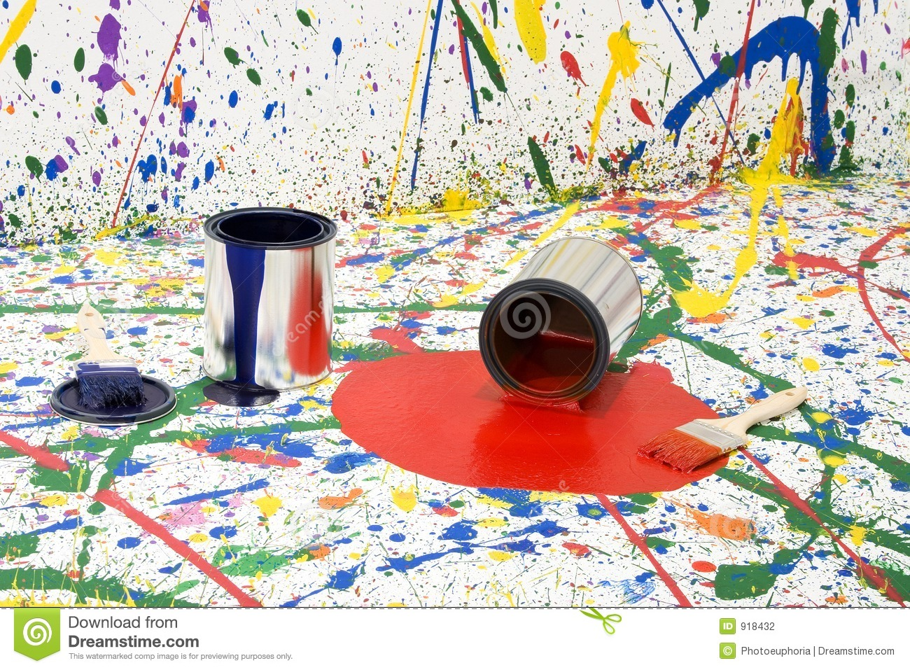 Paint Mess Stock Photography - Image: 918432