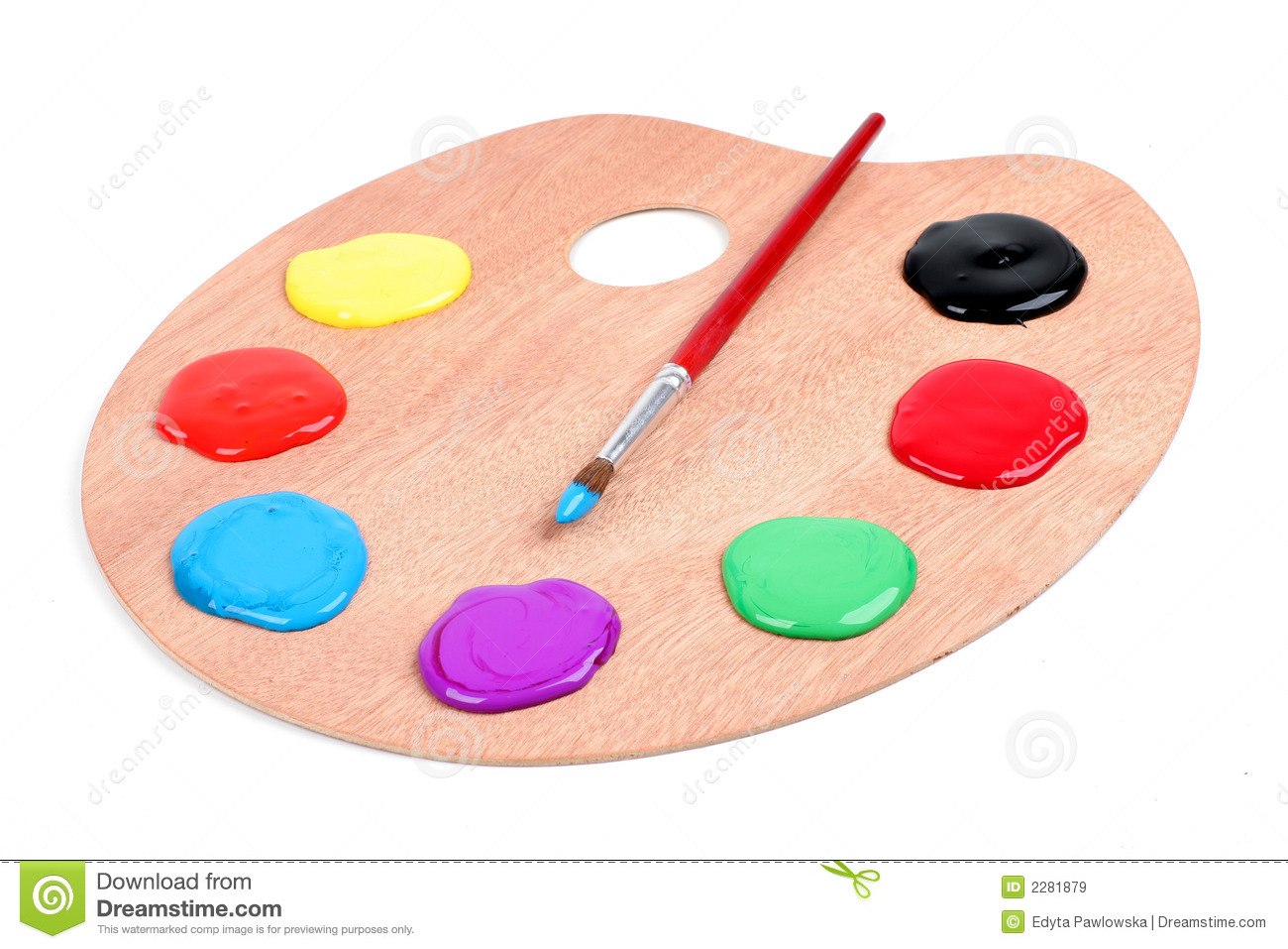paint palette royalty free stock images image 2281879