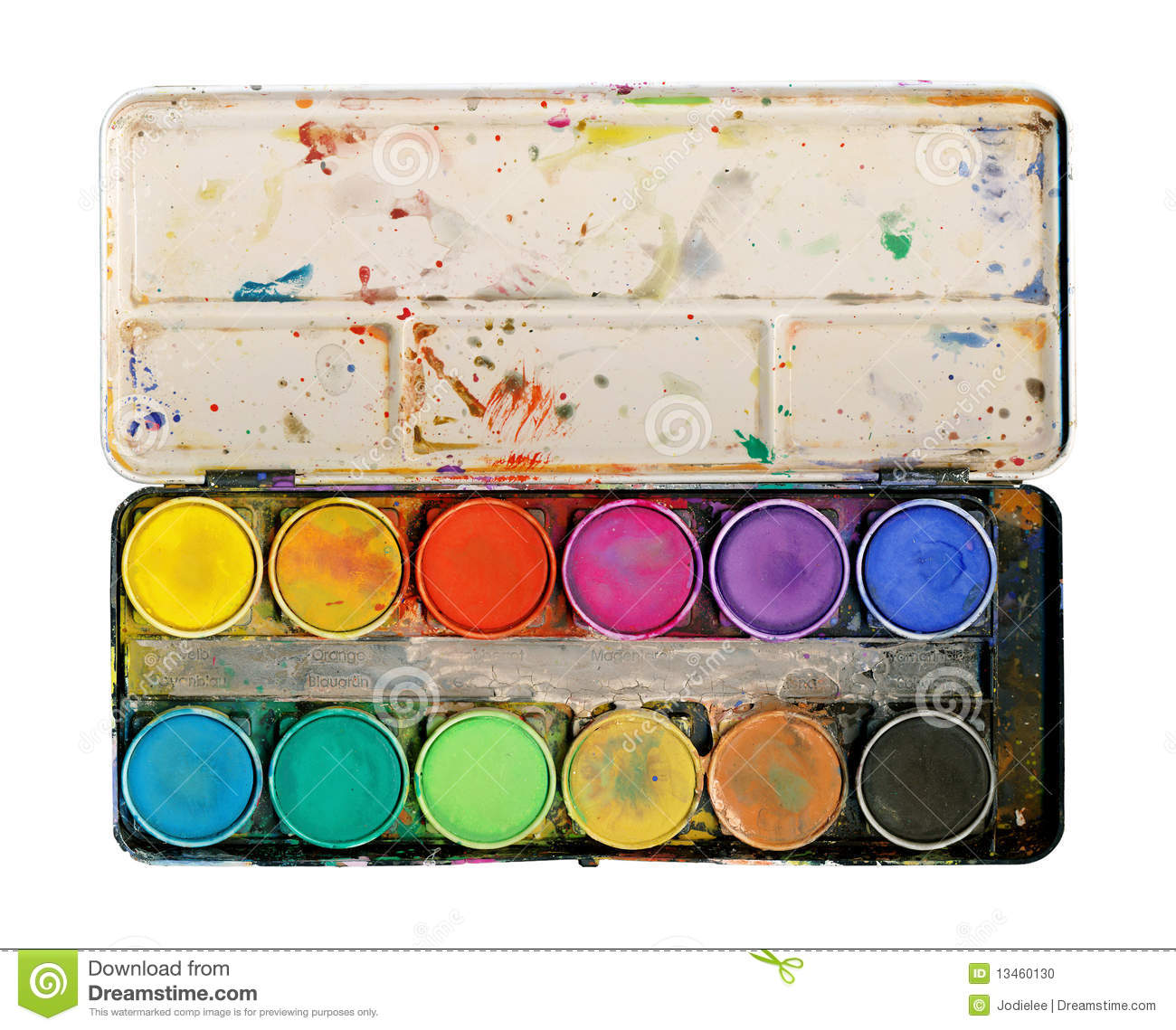 Paint Palette Isolated on white background