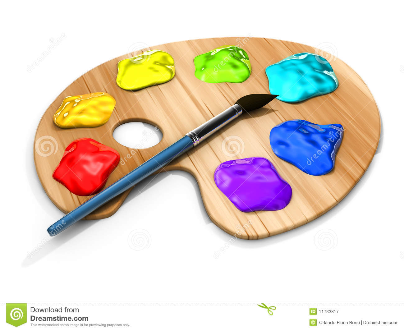 Paint pallete royalty free stock photography image 11733817 for Photos to paint