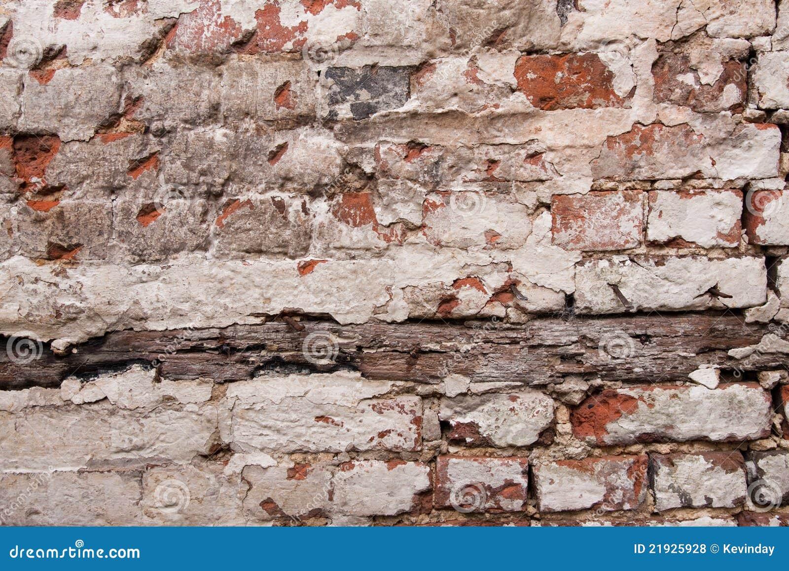 Paint Peeling Off Brick Wall Royalty Free Stock Photos