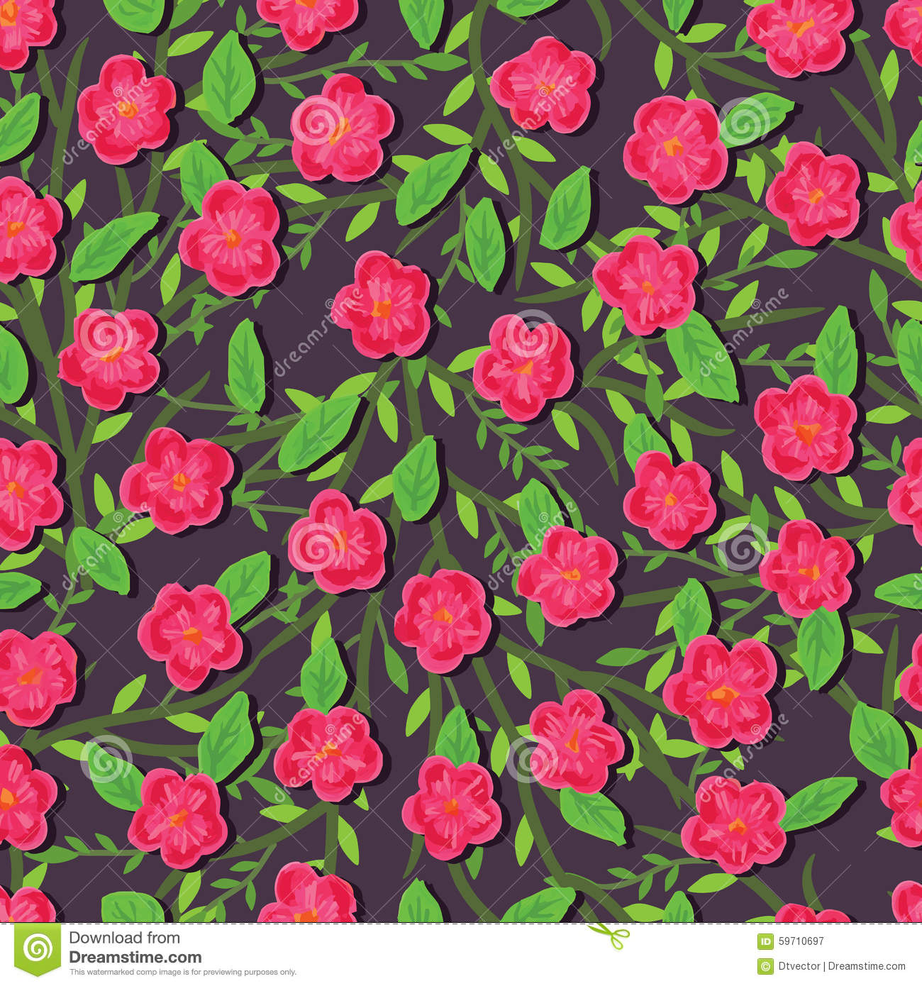 Paint pink flower seamless pattern stock vector illustration of download comp mightylinksfo