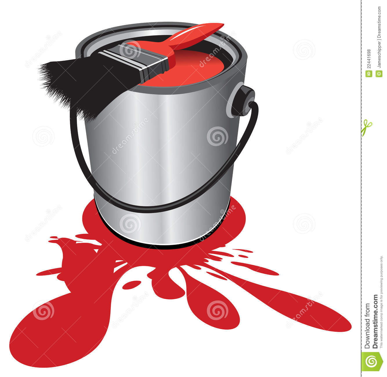 Paint Pot Royalty Free Stock Photos - Image: 22441698