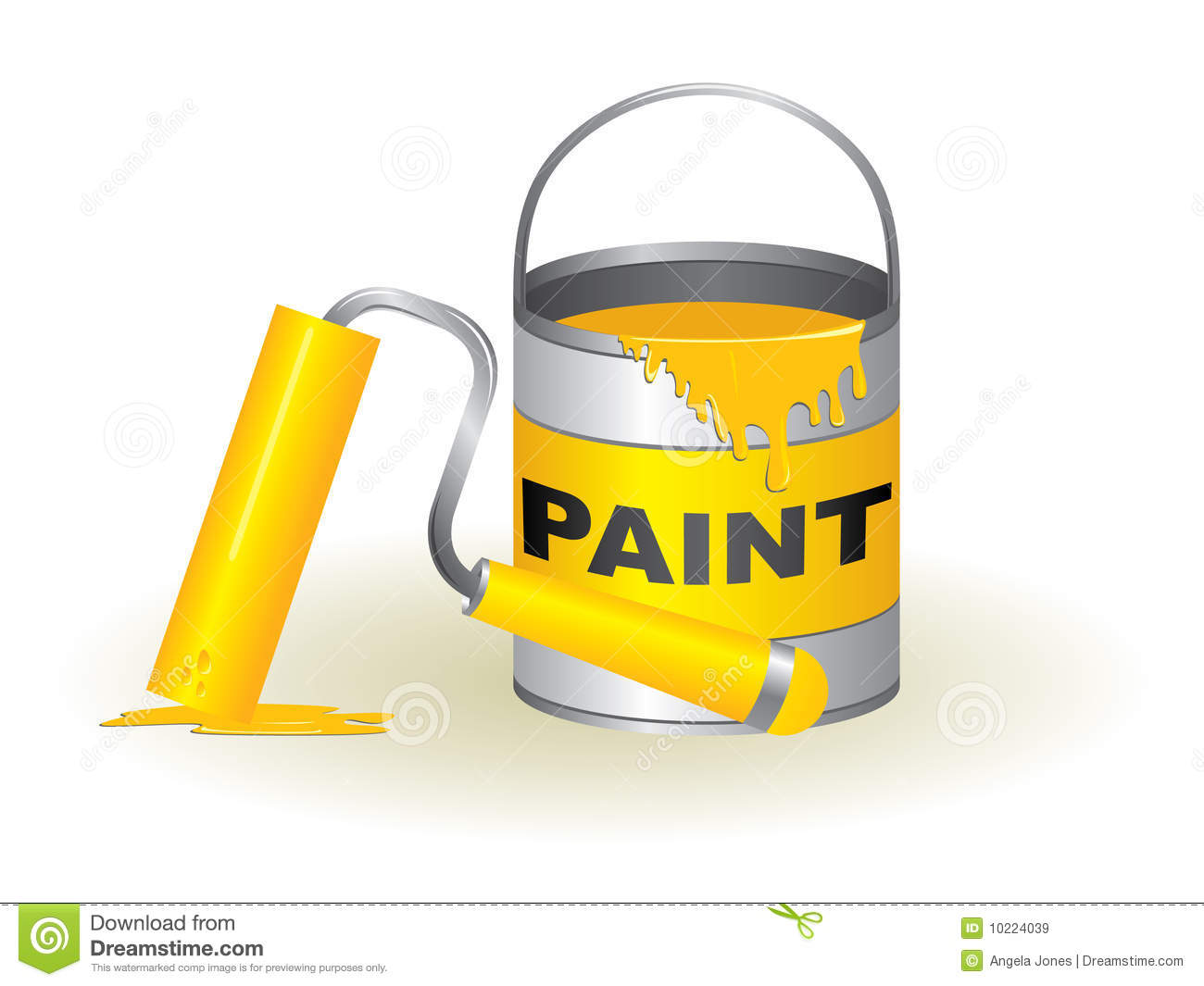 Paint Pot And Brush Image