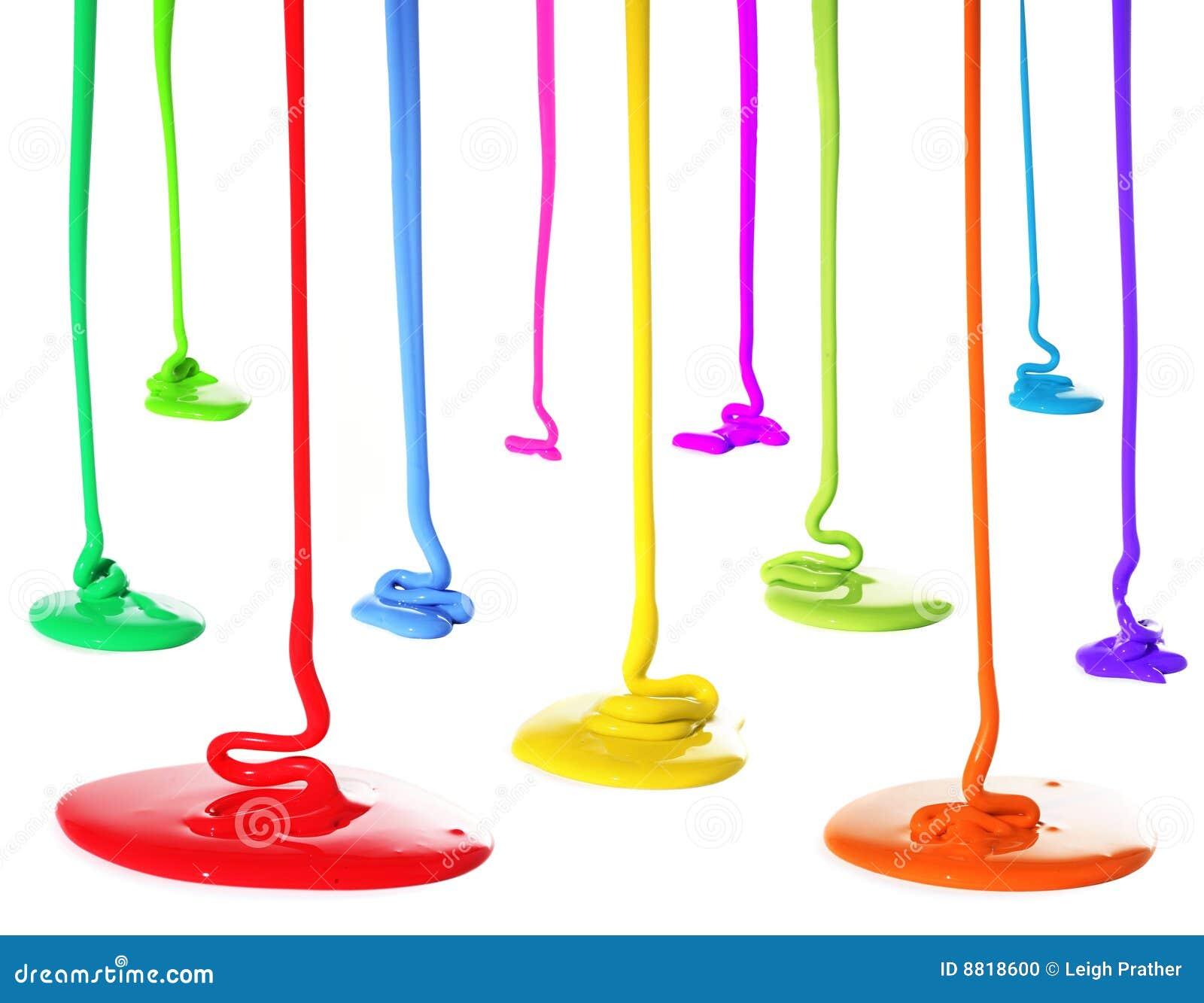 Primary Color Paint Pour Acrylic